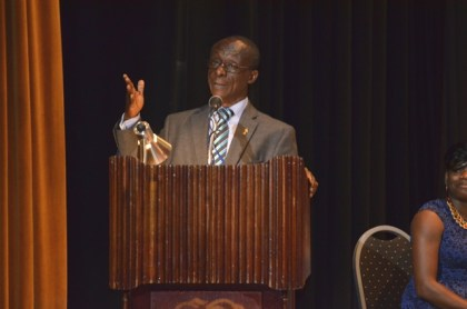 Dr. William Adu-Krow delivering the feature address