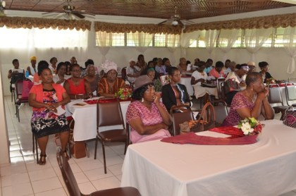 The gathering at the Presbyterian Church of Guyana Women's convention