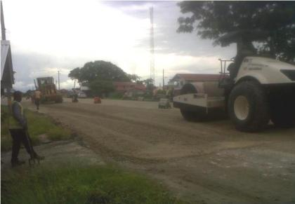 Ongoing road works on the West Coast Road