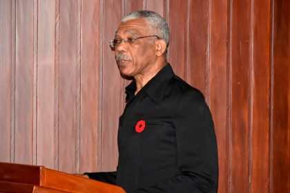 President David Granger delivering the charge to the new members of the Public Procurement Commission