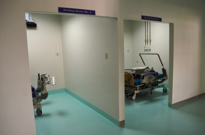 Two of the six new birthing rooms