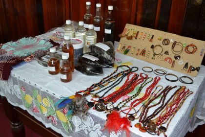 Items on display, that were made by the participants of the Self Relaince and Success in Business Workshop.