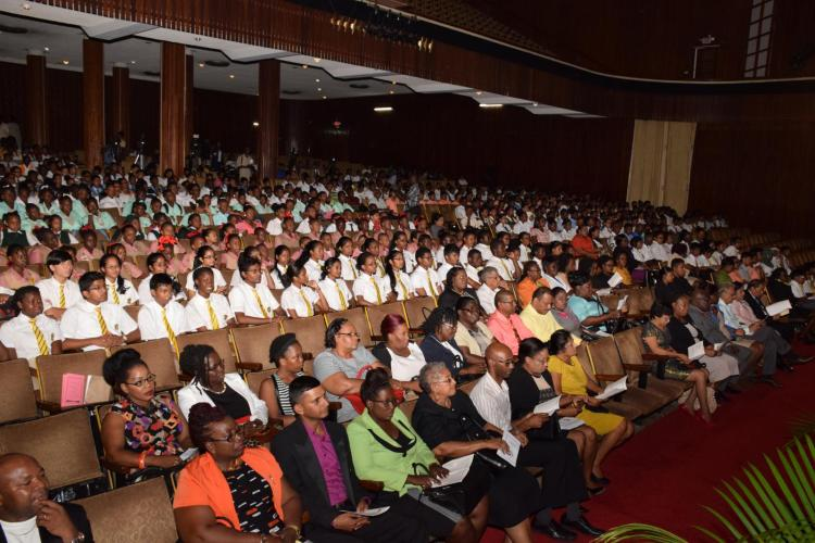 attendees at the Ministry of Education 2016 National Award Ceremony at the National Cultural Centre