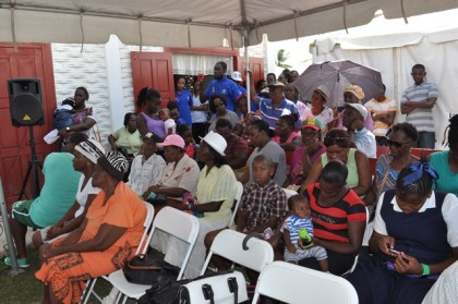 Residents of Victoria, East Coast Demerara gathered at the opening ceremony of the medical outreach