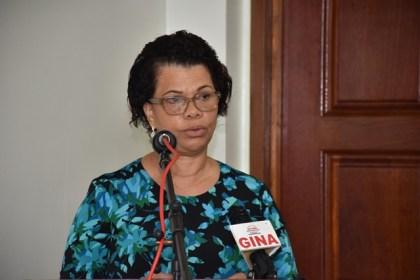 Director General, Foreign Service Institute, Ambassador, Audrey Jardine-Waddell, delivering brief remarks at the training at the Foreign Service Institute