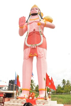 The 52 foot murti of Lord Hanuman at Leguan