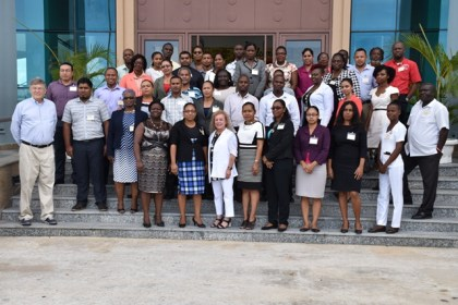 Participants that will be taking part in the  Ministry of Finance's, Monitoring and Evaluation Training Workshop