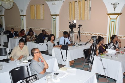 A section of the media personnel in attendance at the workshop on reporting on sexual offences