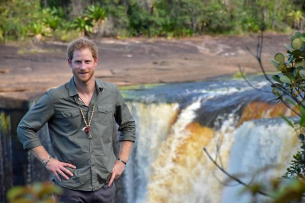 Prince Harry at the Majestic Kaieteur Falls