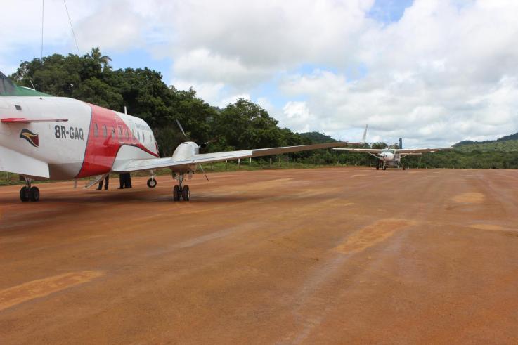 The resurfaced airstrip at Surama Region Nine