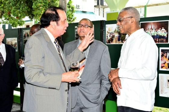 President David Granger interacting with members of the legal profession