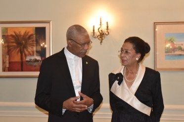 President David Granger and Governor-General of the The Bahamas, Dame Marguerite Pindling