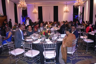 Scenes at the State Dinner in honour of President David Granger and the Guyanese delegation