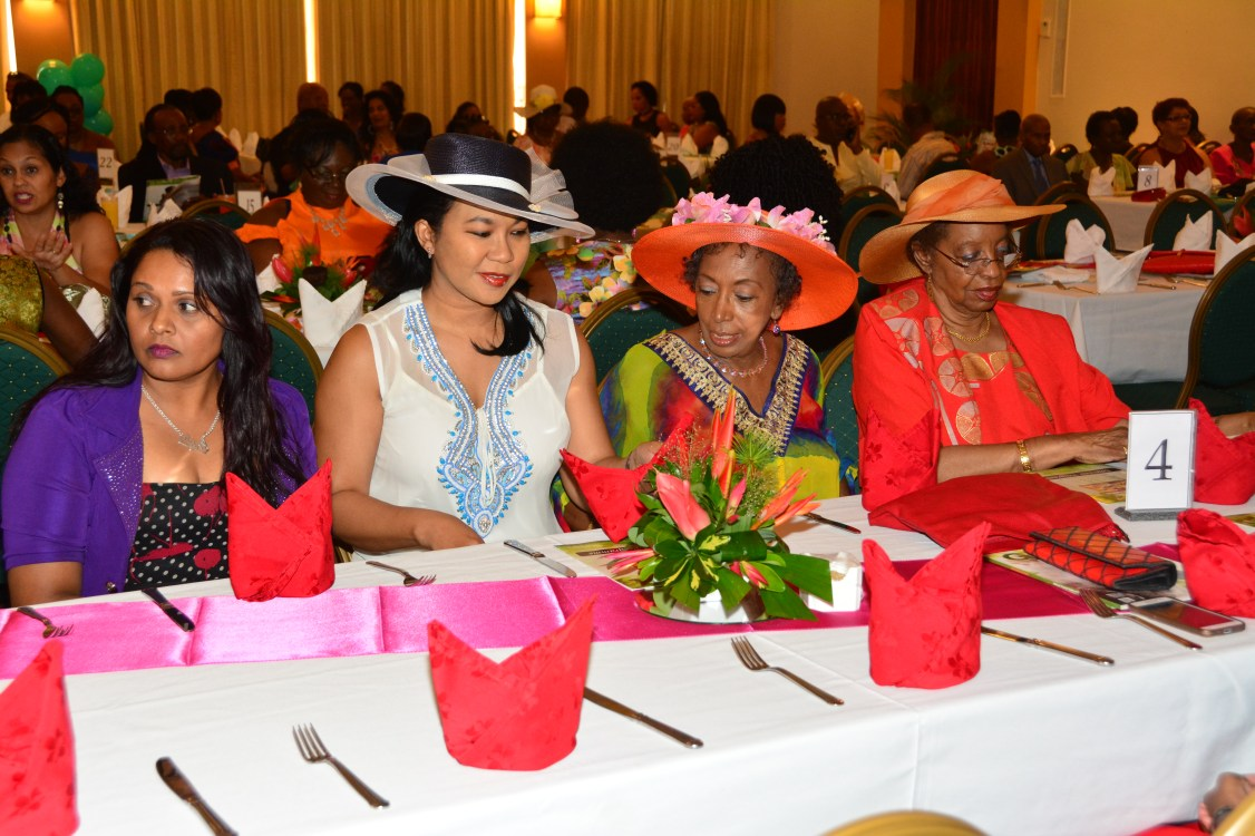 Some of the women who attended the Easter Brunch. Madam Justice Desire Bernard, retired judge of the Caribbean Court of Justice, is pictured first right