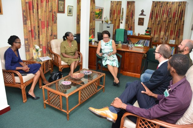 First Lady, Mrs. Sandra Granger during discussions with the group