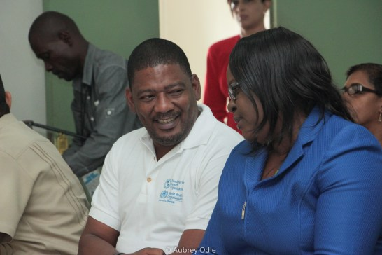 Minister of Health Patrick Pengel (Suriname) and Minister Dr. Karen Cummings Guyana