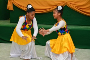 The Programme also featured cultural performances. Here, two of the participants perform an interpretive dance
