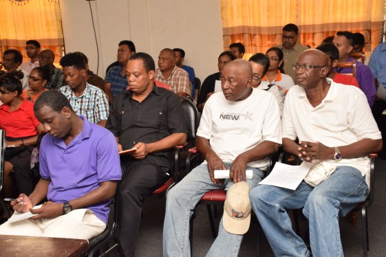 Residents of Region Six that attending the Ministerial outreach in Region Six, Berbice