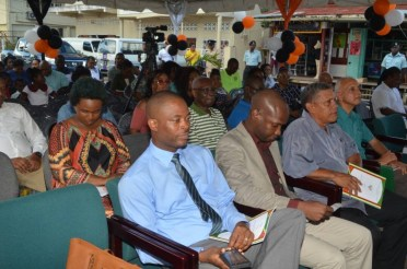 A section of the gathering at the launching of the Local Government Handbook at Bartica Town Council