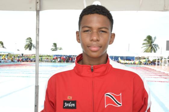 Jordon Mc Millan, one of the swimmers from team Trinidad and Tobago