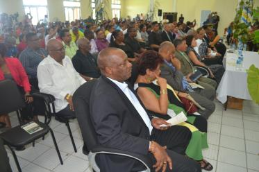 Ministers of State, Joseph Harmon, Finance, Winston Jordan and Social Protection, Amna Ally among those gathered at the opening of the National Toshaos Council (NTC) conference, Cyril Potter College of Education (CPCE)