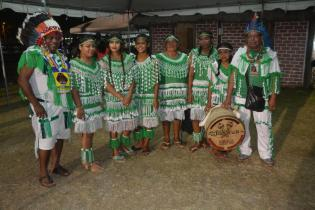 Some Indigenous Youth displaying their traditional wear