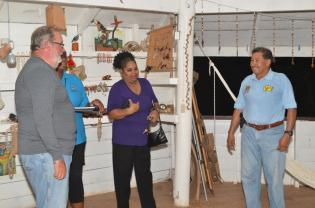 Minister of Indigenous Peoples' Affairs, Sydney Allicock with members of the Barbados team