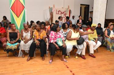 A large turnout for the Kwe Kwe night at the St. Stephens Lutheran Church, Brooklyn, New York