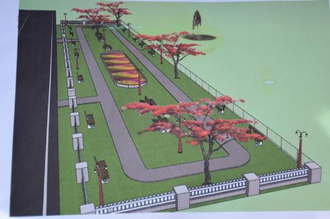 Picture of the Mabaruma Green Park upon completion