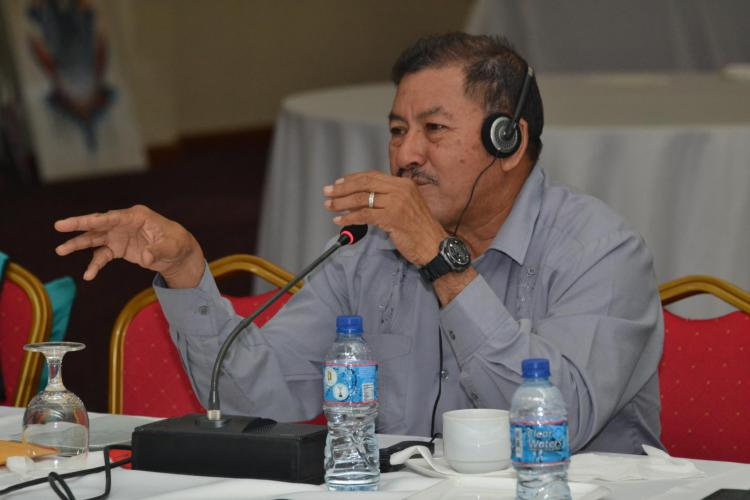 Ministry of Indigenous Peoples' Affairs, Sydney Allicock during the ACTO meeting