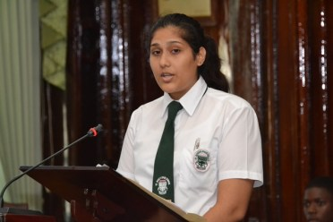 St. Rose's High Student Youth Ambassador Bibi Nareema Khan