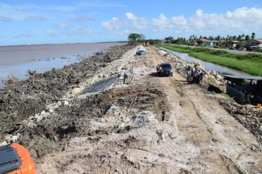 Ongoing sea and river defence works between Wallers Delight and Ruimzeight