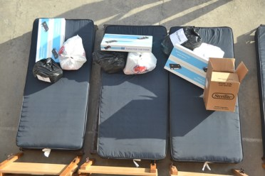 Some of the items distributed to the fire victims