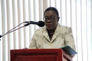 Minister of Education, Hon. Nicolette Henry