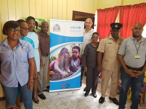 Officials of the Ministry of Social Protection, Unicef, Blossom Inc and other stakeholders at the launching of the Children's Advocacy Centre