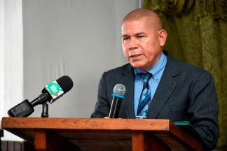Minister of Social Cohesion Dr. George Norton.