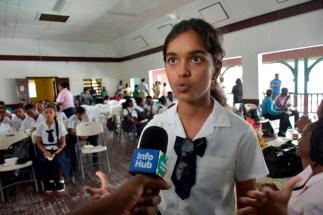 Penita Ramcharitar, student of Berbice High School.