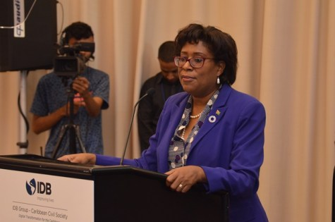 Minister of Public Telecommunication Catherine Hughes.