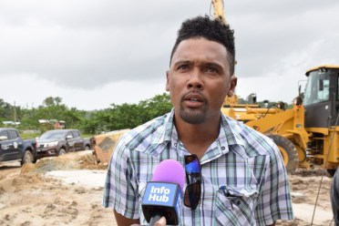 Engineer of Gaico Construction, Trimaine Alphonso.