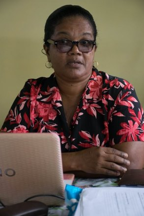 Head of the Agriculture Department at Bartica Secondary, Sandra Gibson.
