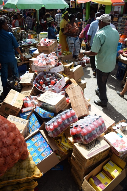 Some of the goods seized from vendors at the Stabroek Market Bazaar by M&CC to be destroyed.