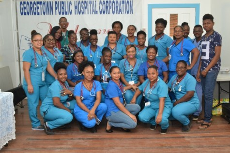 The resident Emergency Nurses who received stethoscopes.