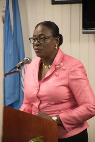 Minister Nicolette Henry.