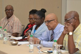 Officials of the Guyana Geology and Mines Commission (GGMC) and Guyana Gold Board at the forum.