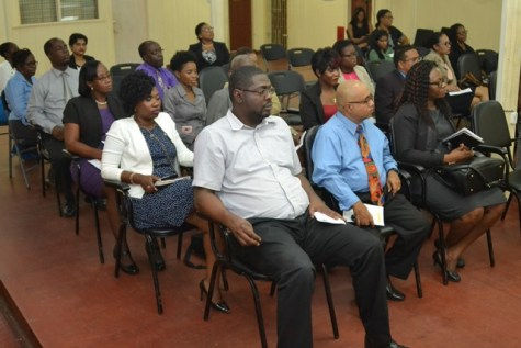 Representatives from the Ministry of Social Protection, Ministry of Finance, and the Ministry of Indigenous People's Affairs attending the launch of the Apprenticeship Programme.