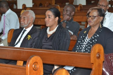 Chairman of the Commission, Justice (retd) Donald Trotman and staff.
