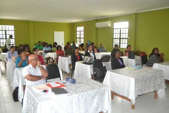 Some of the teachers involved in the Inclusive Education training.