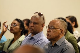 Some of the participants at the public conversation on single-use plastics.