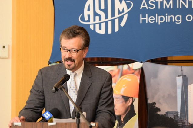 Representative of ASTM International, Jim Olshefsky.