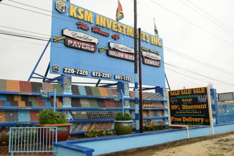 The KSM Investments, Inc. Concrete Products Factory located at 8 Good Hope, Public Road, E.C.D.
